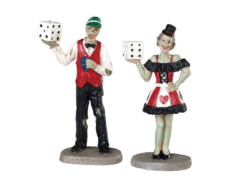 Lemax Spooky Town Casino Figurine Set of 2 # 82621