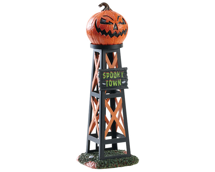Lemax Spooky Town Evil Pumpkin Water Tower # 83341