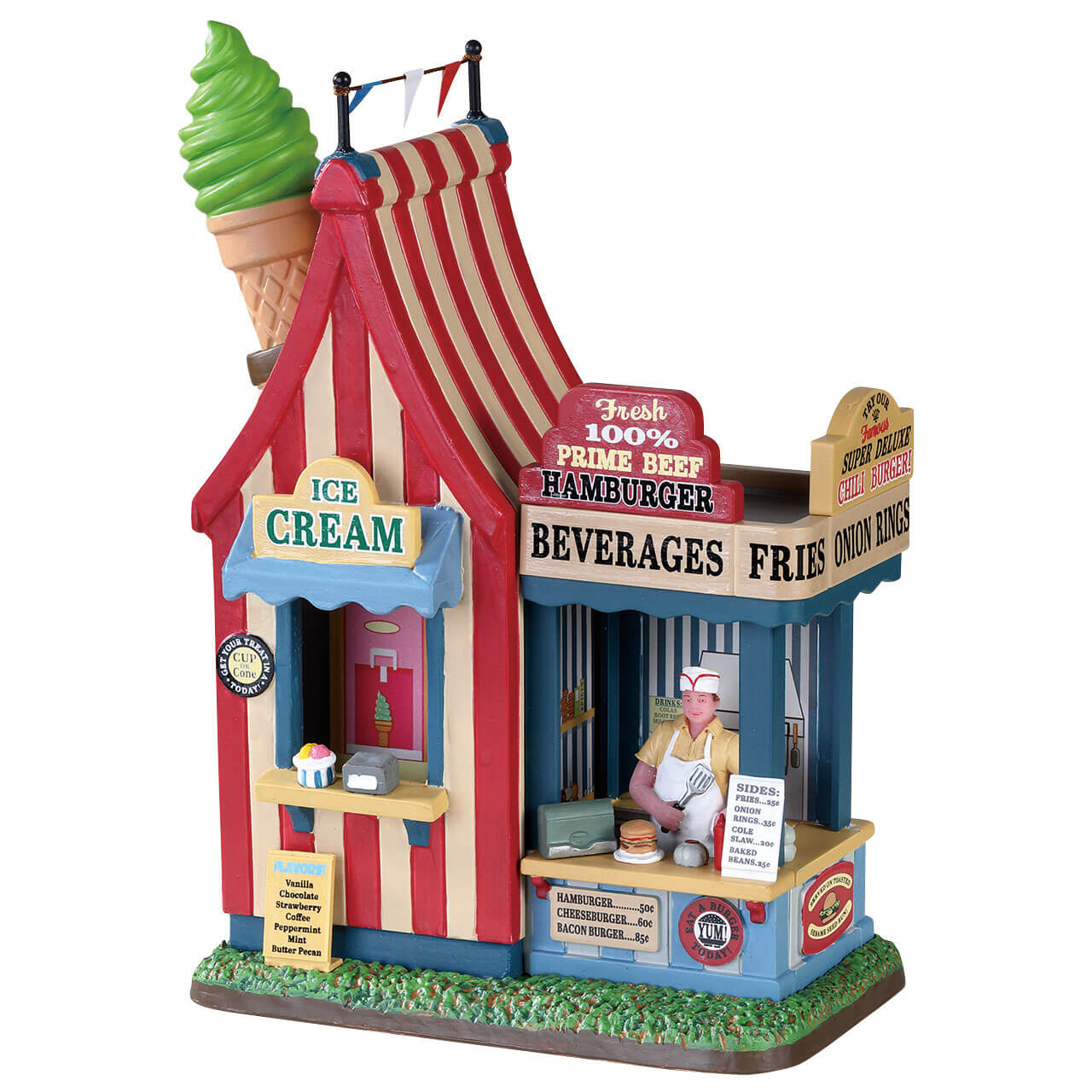 Lemax Village Collection Hamburger and Ice Cream Stand # 83366