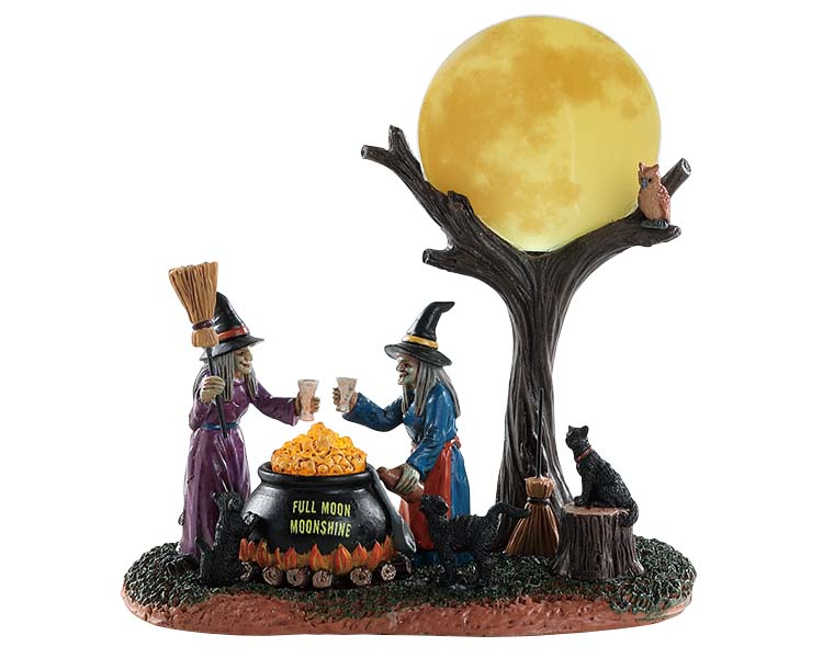 Lemax Spooky Town Full Moon Moonshine Battery Operated # 84335