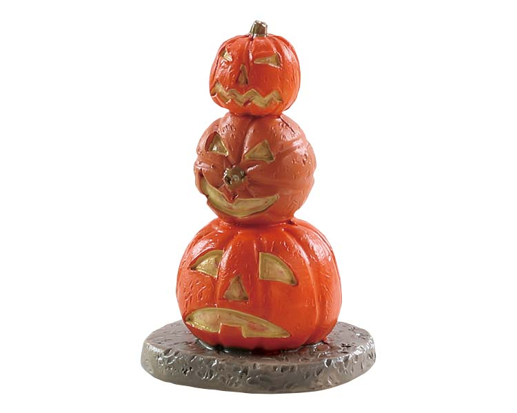 Lemax Spooky Town Stacked Spooky Pumpkins # 84344