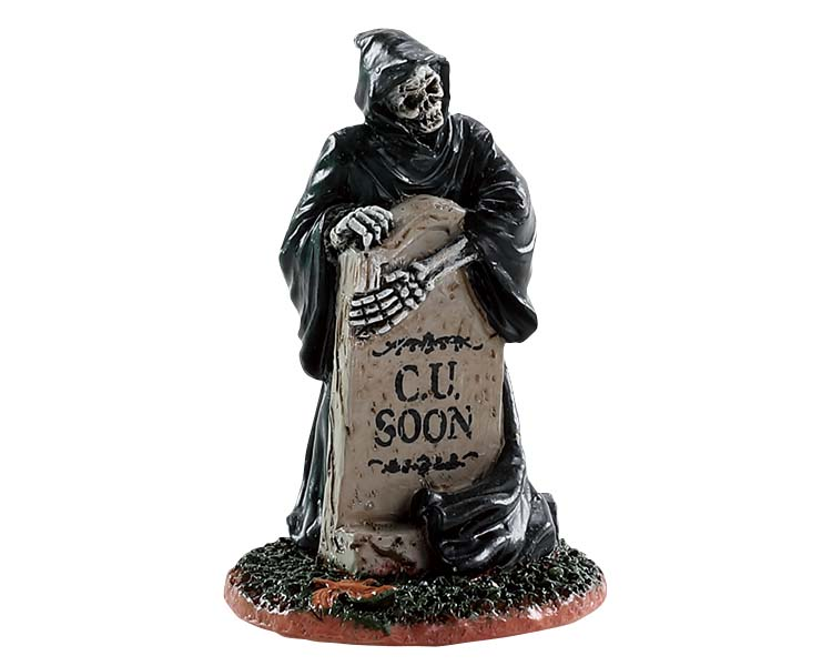 Lemax Spooky Town Grim Reaper Tombstone # 84345