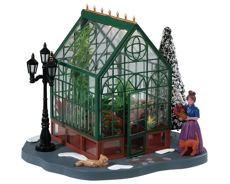 Lemax Village Collection Victorian Greenhouse Battery Operated # 84347