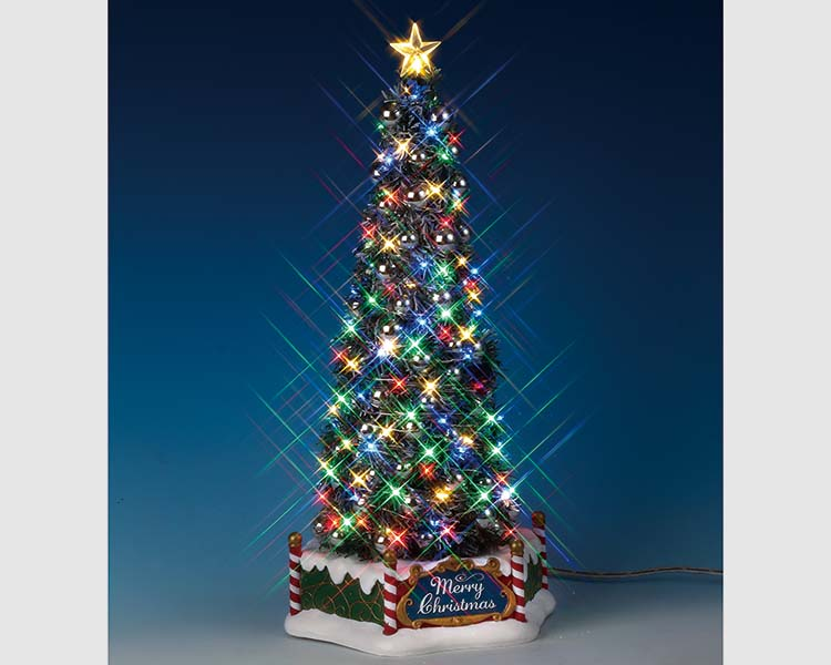 Lemax Village Collection New Majestic Christmas Tree Battery Operated # 84350
