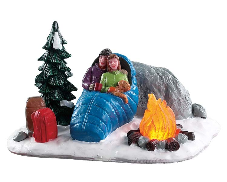 Lemax Village Collection Night Time Campfire Battery Operated # 84361