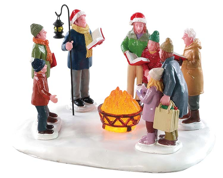 Lemax Village Collection Toasty Caroling Battery Operated # 84362