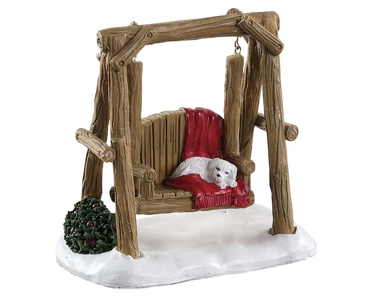 Lemax Village Collection Rustic Log Swing # 84363