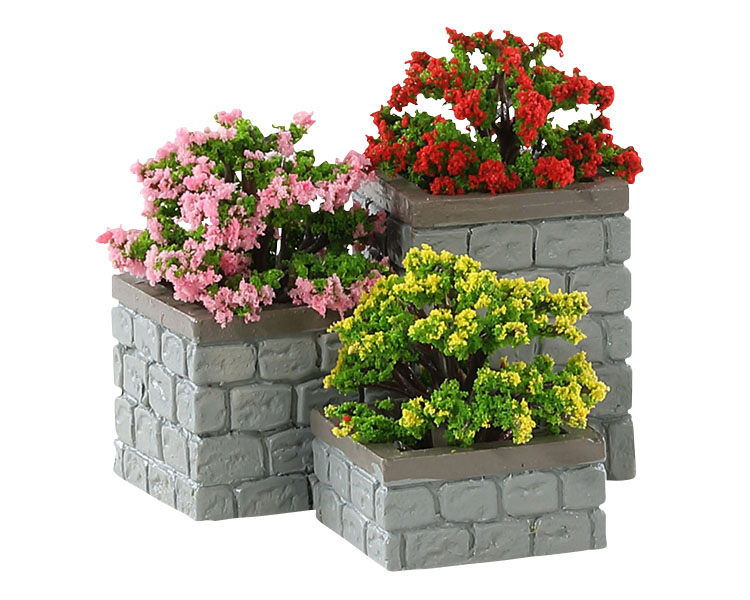 Lemax Village Collection Flower Bed Boxes Set of 3 # 84380