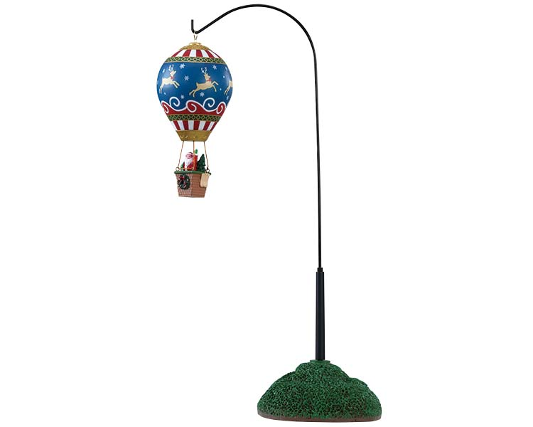 Lemax Village Collection Reindeer Hot Air Balloon Battery Operated # 84388