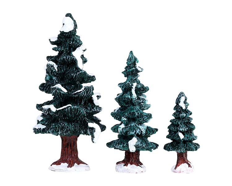 Lemax Village Collection Christmas Evergreen Tree Set of 3 # 84407