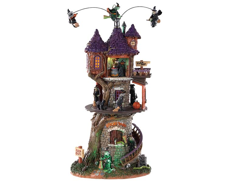 Lemax Spooky Town Witches Tower with Adaptor # 85301