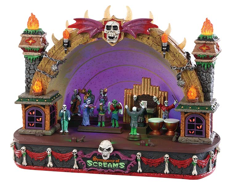 Lemax Spooky Town Symphony Of Screams with Adaptor # 85303