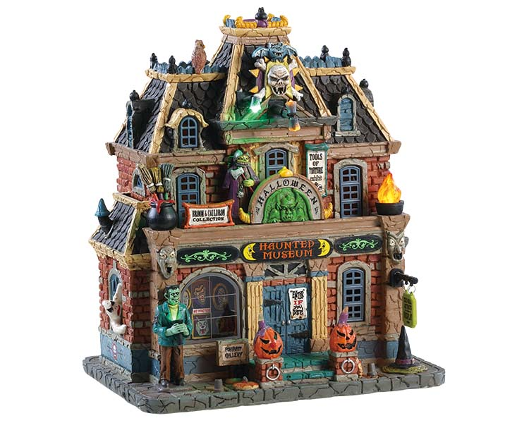 Lemax Spooky Town Haunted Museum with Adaptor # 85304