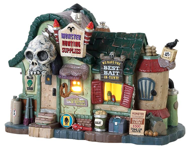 Lemax Spooky Town Monster Hunting Supplies # 85311