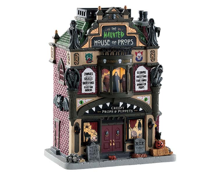 Lemax Spooky Town The Haunted House Of Props # 85312