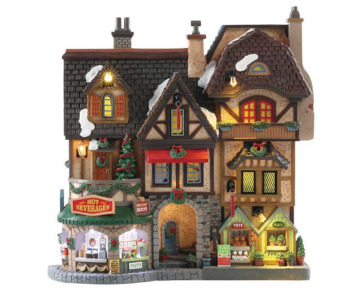 Lemax Village Collection River Moor's Christmas Street Festival Facade Battery Operated # 85315