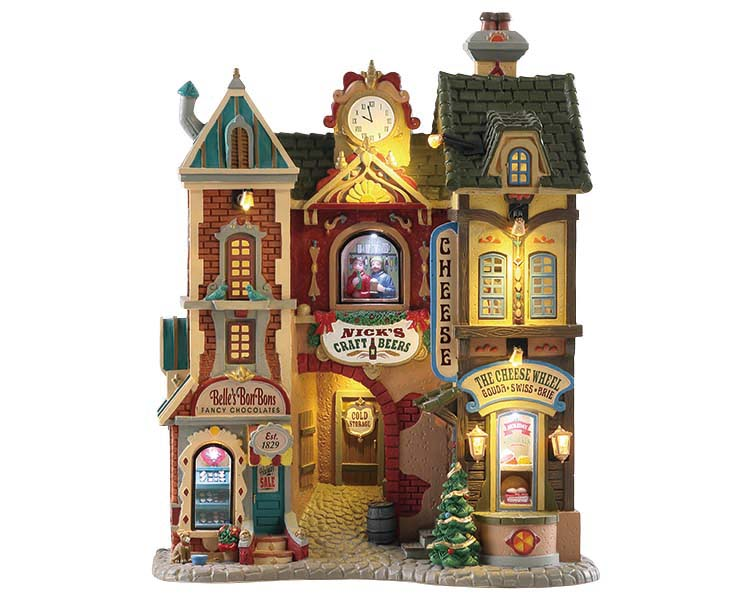 Lemax Village Collection Ye Olde Cobblestone Road Facade Battery Operated # 85316