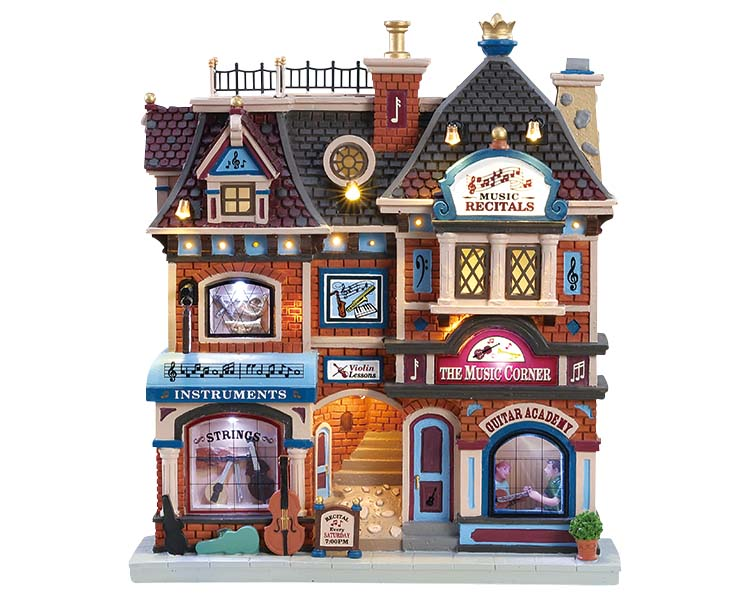 Lemax Village Collection The Music Corner Battery Operated # 85317