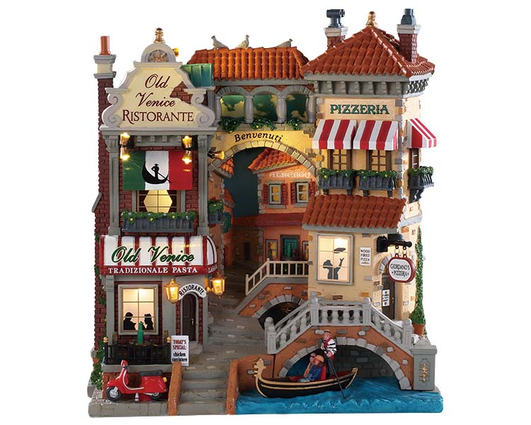 Lemax Village Collection Venice Canal Shops Battery Operated # 85318