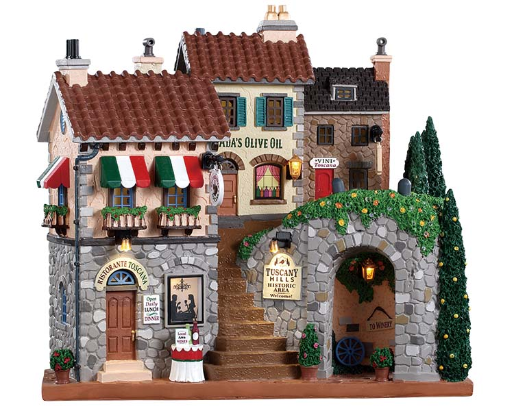 Lemax Village Collection Tuscany Hills Battery Operated # 85320