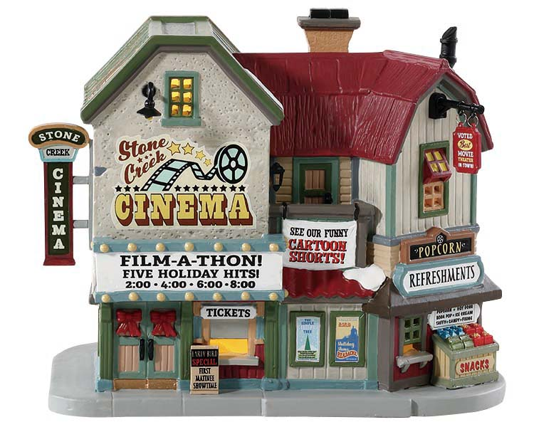 Lemax Village Collection Stone Creek Cinema # 85332