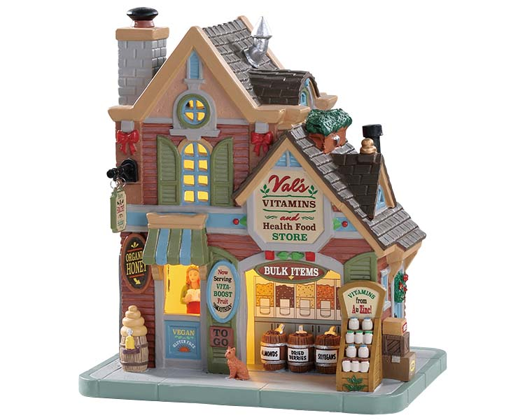 Lemax Village Collection Val's Vitamins & Health Food Store # 85334