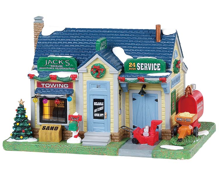 Lemax Village Collection Roadside Assistance Headquarter # 85335