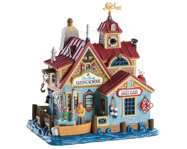 Lemax Village Collection Sea Spray Sailing School # 85336