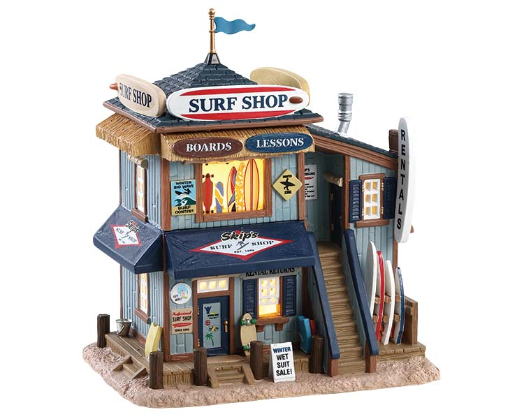 Lemax Village Collection Skip's Surf Shop # 85339