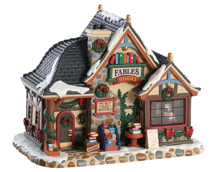 Lemax Village Collection Fables Bookstore # 85366