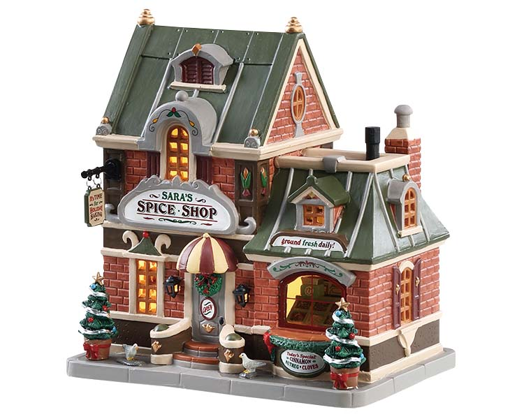 Lemax Village Collection Sara's Spice Shop # 85370