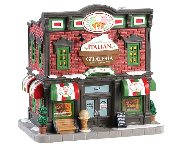 Lemax Village Collection Italian Gelateria # 85373