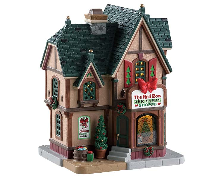Lemax Village Collection The Red Bow Christmas Shoppe # 85379