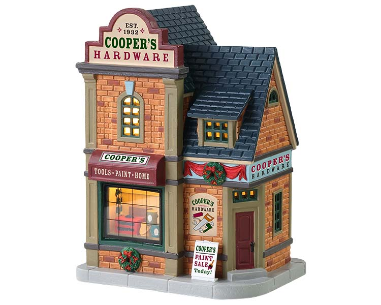 Lemax Village Collection Cooper's Hardware # 85415