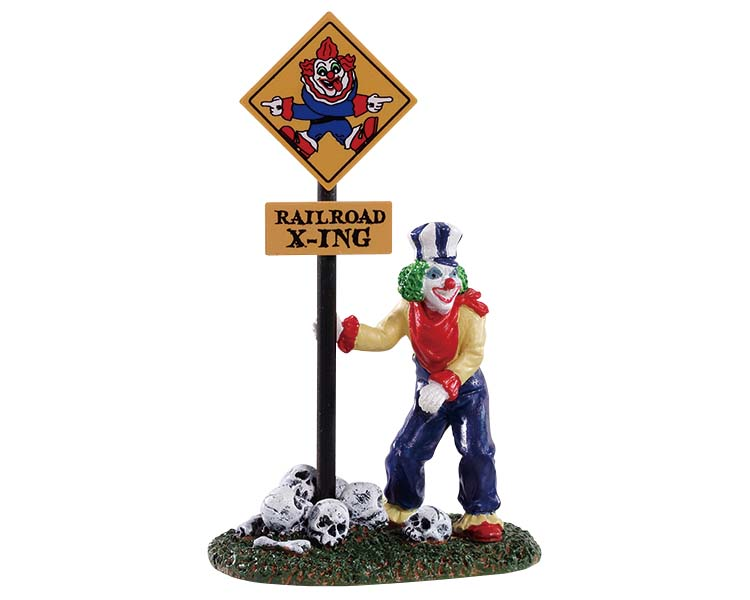 Lemax Spooky Town Crazy Clown Conductor # 92734