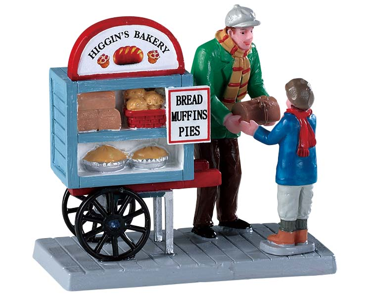 Lemax Village Collection Delivery Bread Cart # 92749