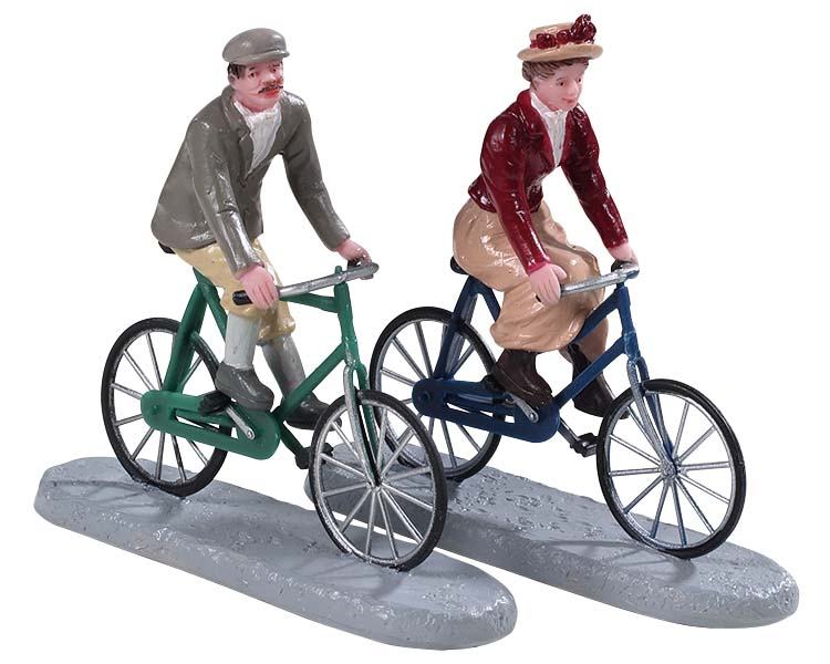 Lemax Village Collection Bike Ride Date Set of 2 # 92763
