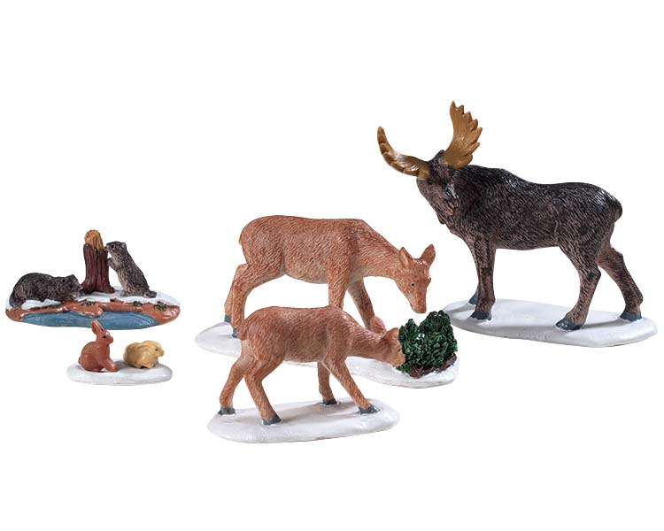 Lemax Village Collection Wild Animals Set of 5 # 92771