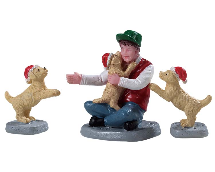 Lemax Village Collection New Puppies Set of 3 # 92778