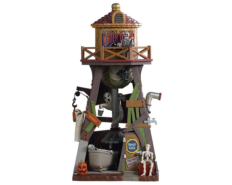 Lemax Spooky Town Spooky Springs Water Tower # 93410