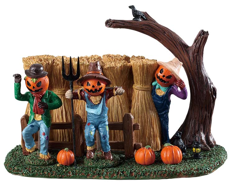 Lemax Spooky Town Sinister Scarecrows # 93417