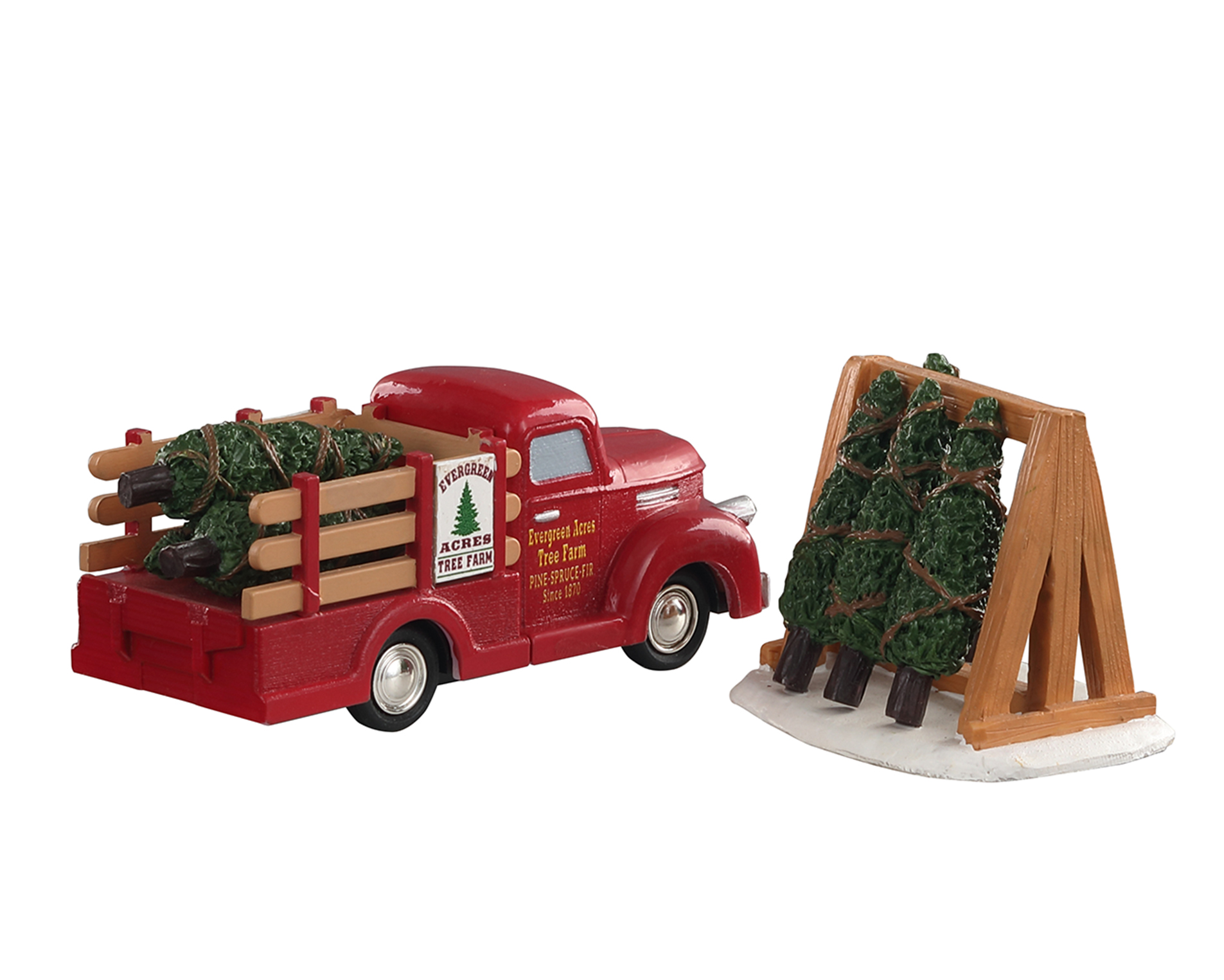 Lemax Village Collection Tree Delivery Set of 2 # 93423