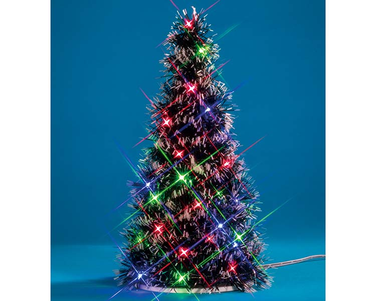Lemax Village Collection Multi Light Fir Tree Battery Operated # 94522 - NO PACKAGING