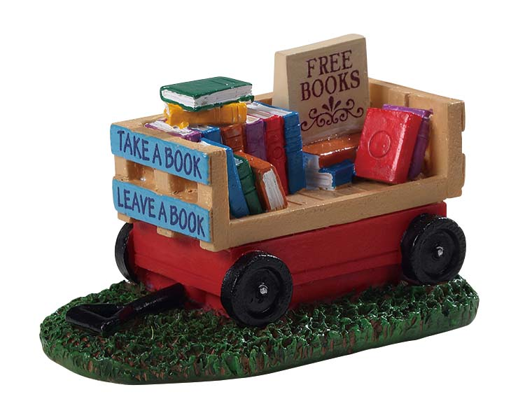 Lemax Village Collection Book Wagon # 94534