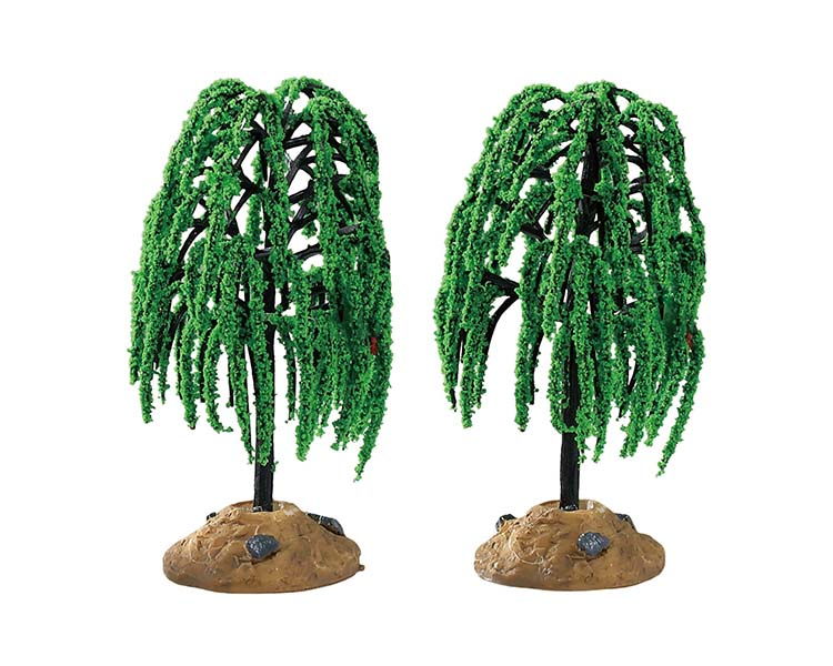 Lemax Village Collection Spring Willow Tree Set of 2 # 94548