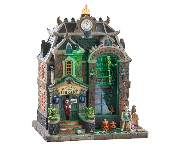 Lemax Spooky Town Haunted Library with Adaptor # 95441