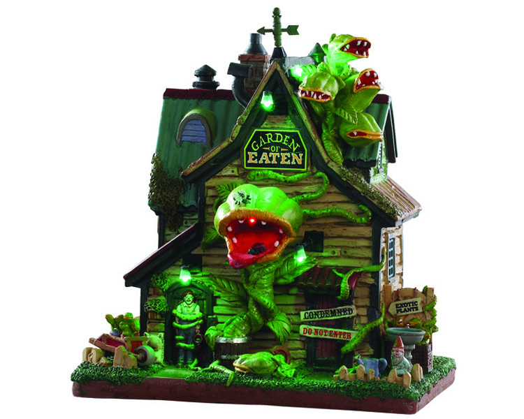 Lemax Spooky Town Garden Of Eaten Nursery with Adaptor # 95445