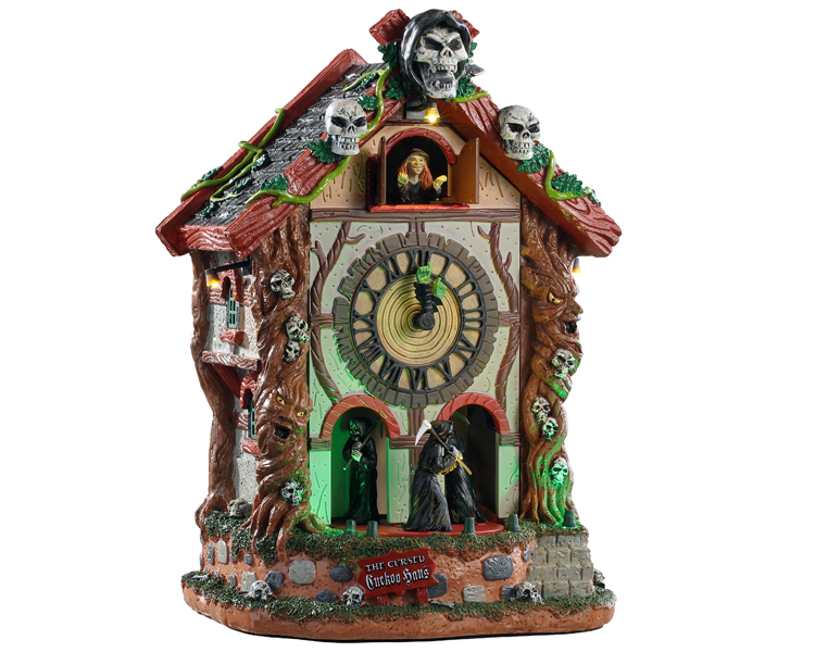 Lemax Spooky Town The Cursed Cuckoo Haus with Adaptor # 95454