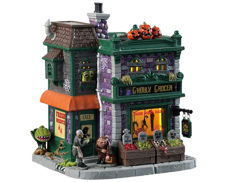 Lemax Spooky Town Ghouly Grocer # 95458