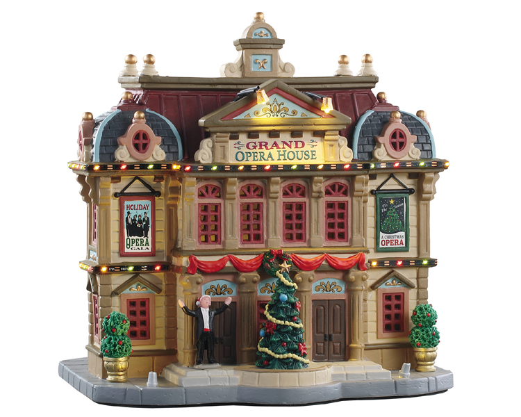 Lemax Village Collection Grand Opera House with Adaptor # 95467